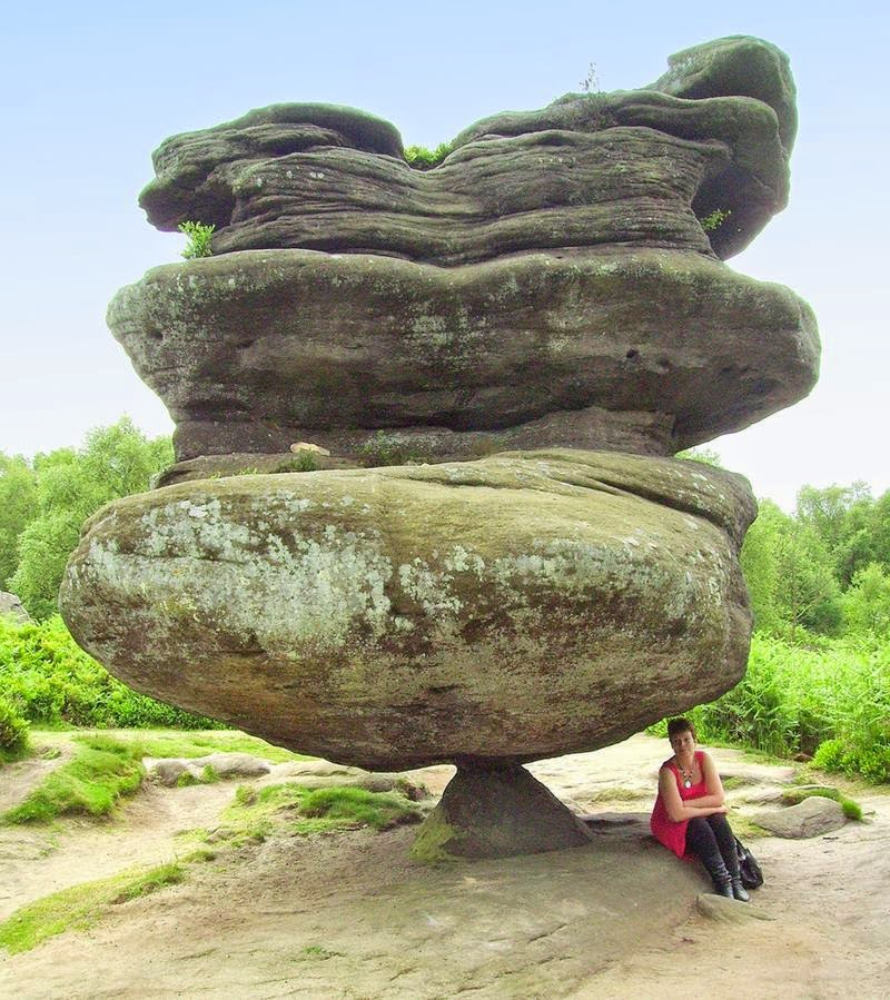 The Idol Rock - 200-ton monolith, balancing on a small pyramid-shaped base.