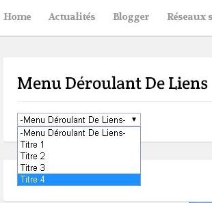 Comment Creer Une Liste Deroulante Avec Des Liens Hypertextes Pour