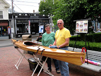 Pat and Bill of Habitat for Humanity with kayak.