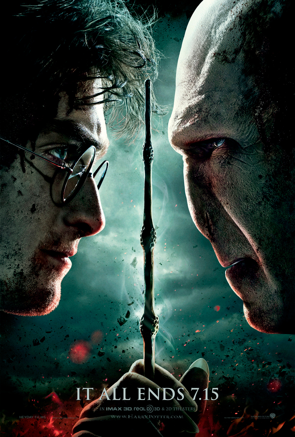 harry potter 7 poster it all ends here. It all ends.