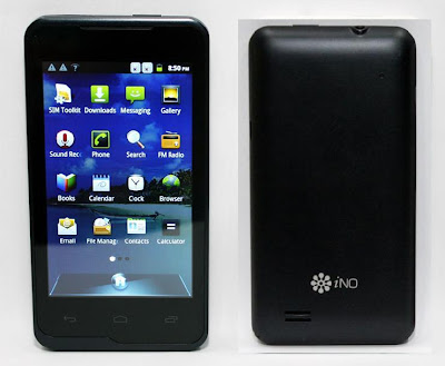 3G iNO One Front & Back Images & Photos Cameraless Smartphone.
