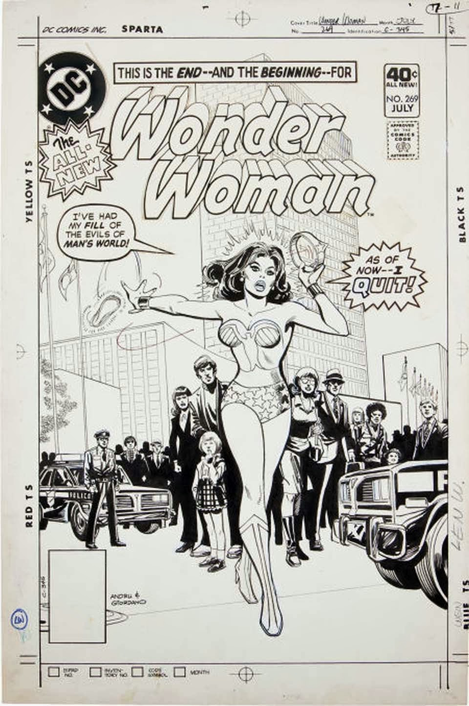 DC Comics of the 1980s: 1980 - Anatomy of a Cover - Wonder Woman #269