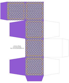 Chainmail inspired printable box- purple