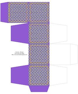 Chainmail inspired printable box- purple