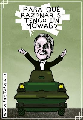 Caricatura de tanqueta Mowag