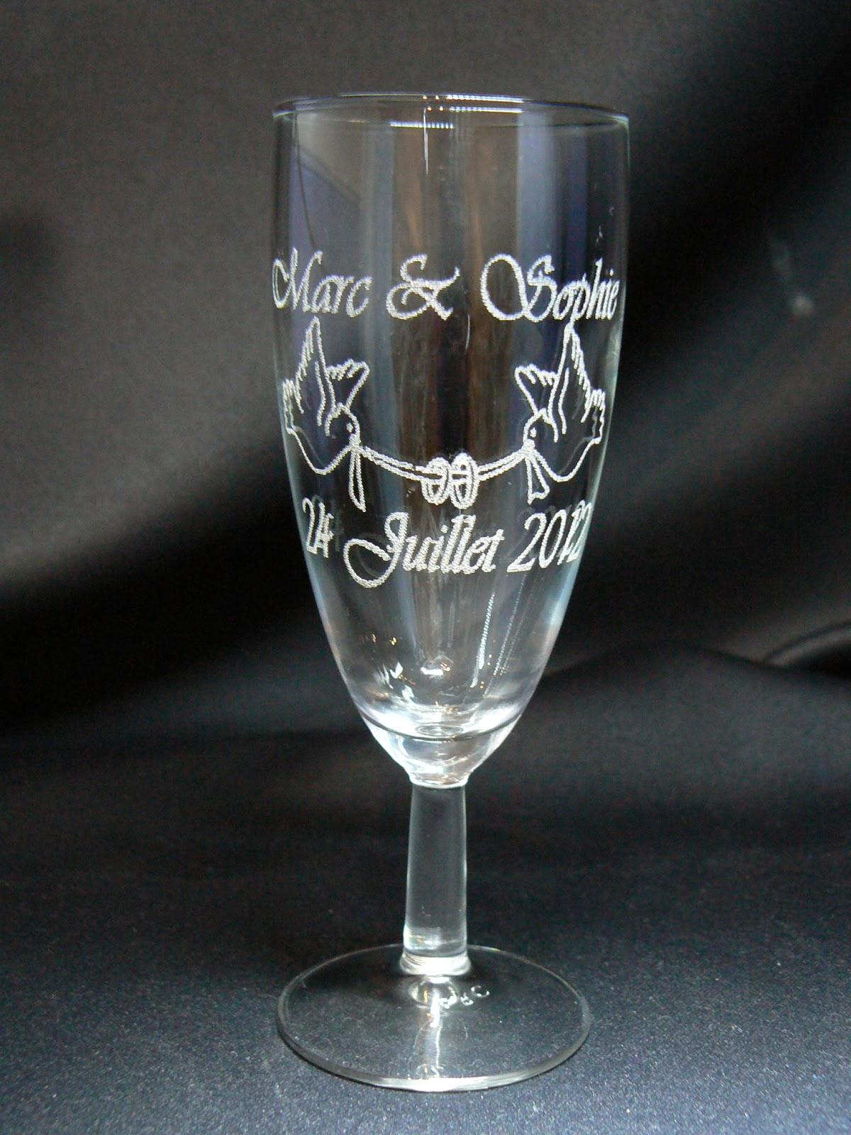Gravures Sur Verre à gravure sur verre,1.48€ verre gravé,flute gravée,mariage,bapteme