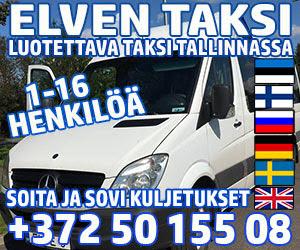 Taksikyytiä Tallinnassa ja Virossa