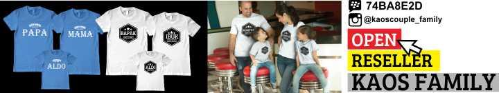 pesan kaos couple family gambar dan ukuran suka-suka