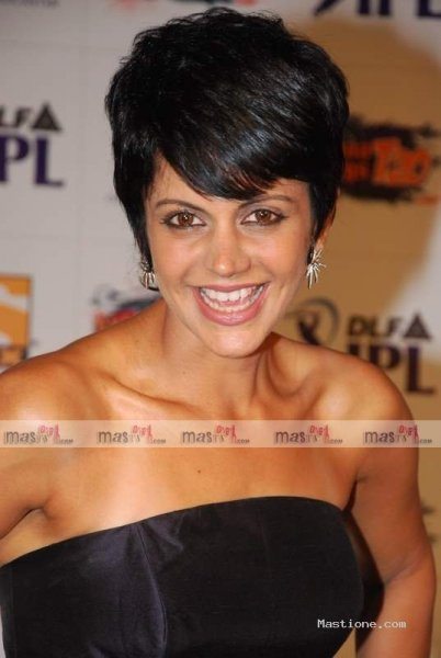 Mandira Bedi Short Pixie Hairstyle