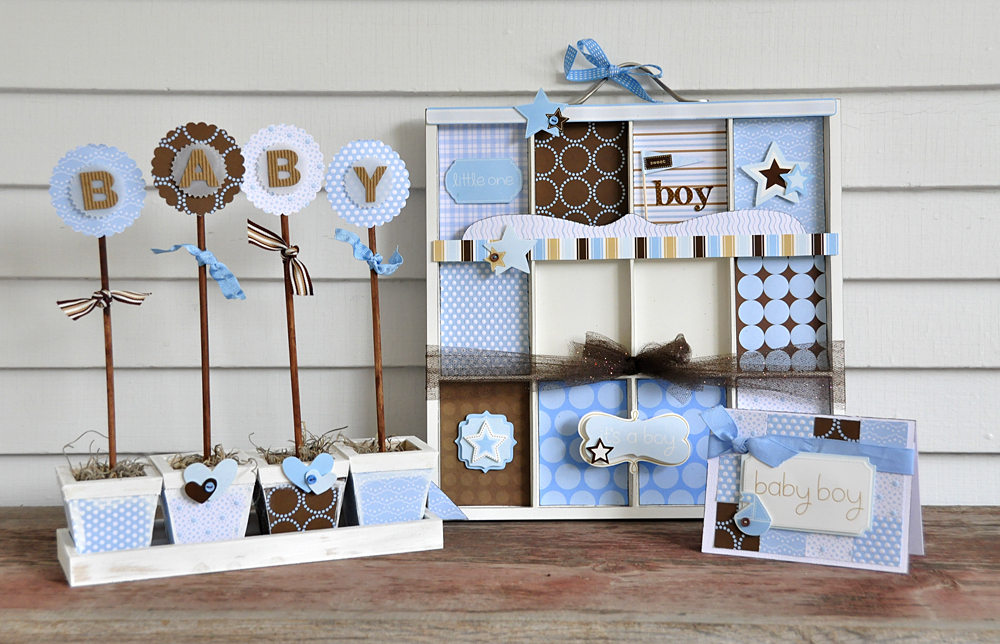 Whip it up wednesday pebbles inc for Baby gift decoration ideas