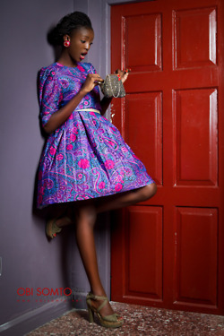 Vintage inspired Ankara dress