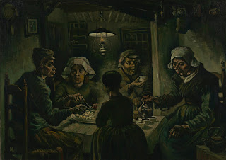 potato eaters, van gogh, painting
