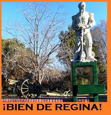 Plaza Belgrano de Villa Regina.