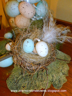 Spring Birds nest ideas at One more Time Events.com