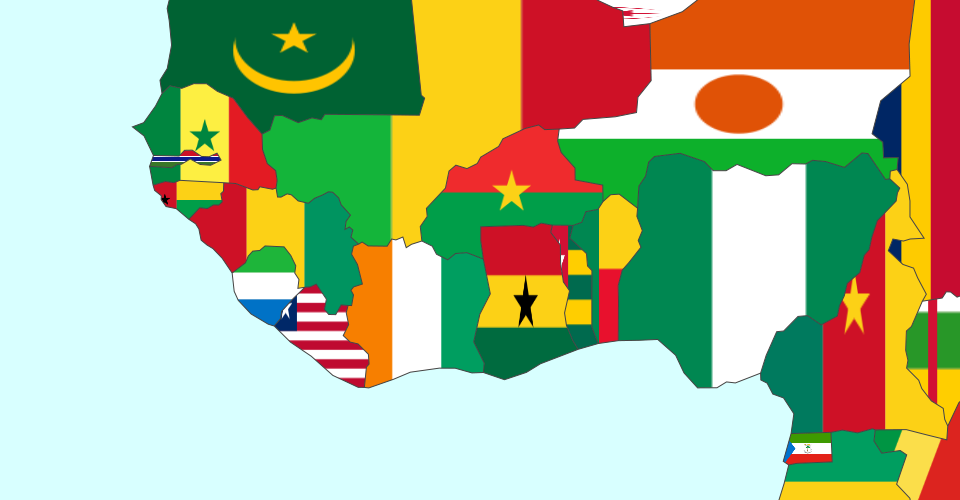 In This Example Iu0027ll Show How To Draw A Map Filling The Polygons With  Images. In This Case, Western Africa Contries Filled With Their Flags: