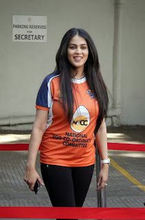 Celebrities Pictures at CCL Season 5 Mumbai Heroes Vs Veer Marathi Match CCL5  6.JPG