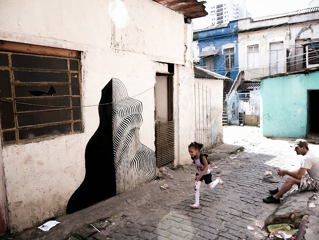 Street Art By 2501 On The Streets Of Sao Paulo Brazil with Herbert Baglione and Marina Zumi. 4