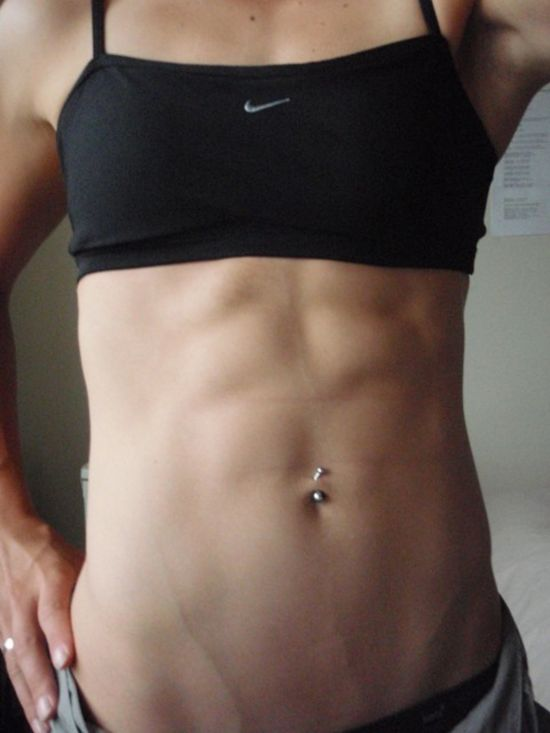 Due Girls with hard abs for that