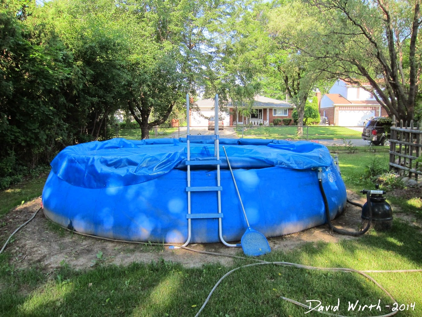 pool level ground and setup 2014
