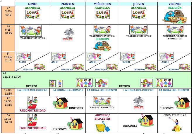 HORARIO 2014-2015