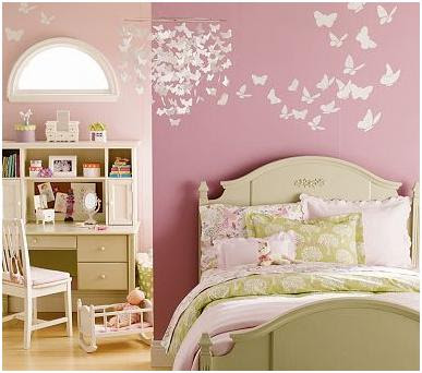 FOR BEDROOMS - IDEAS TO DECORATE A GIRLS BEDROOM WITH BUTTERFLIES