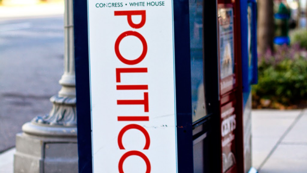 Politico stand (Credit: Raymond Bryson) Click to Enlarge.