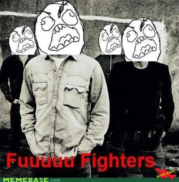 foo fighters, meme, fuuuuu, banda, musica, eeeita coisa
