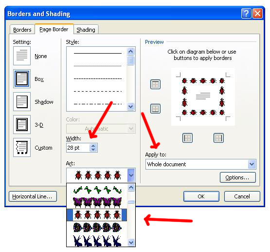 microsoft office word 2007, cara memberi border di word, border indah