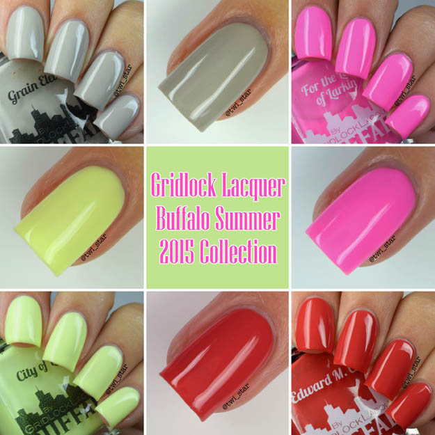 Gridlock Lacquer Buffalo NY Summer 2015 Collection Polish Swatches