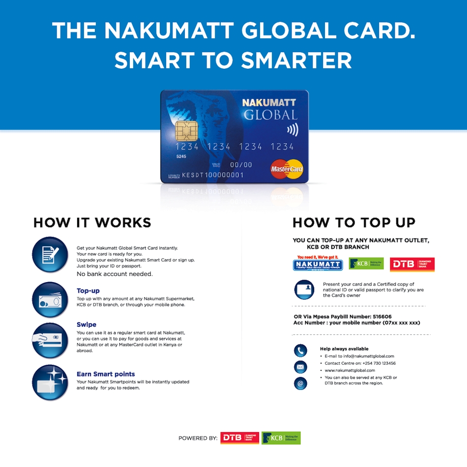how to use nakumatt global card