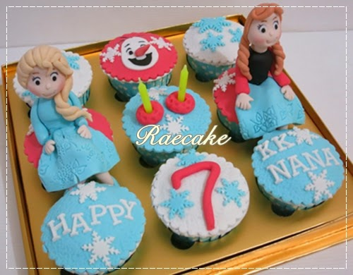 Frozen Cupcake Set Elsa and Anna Kue Ulang Tahun Birthday Cake