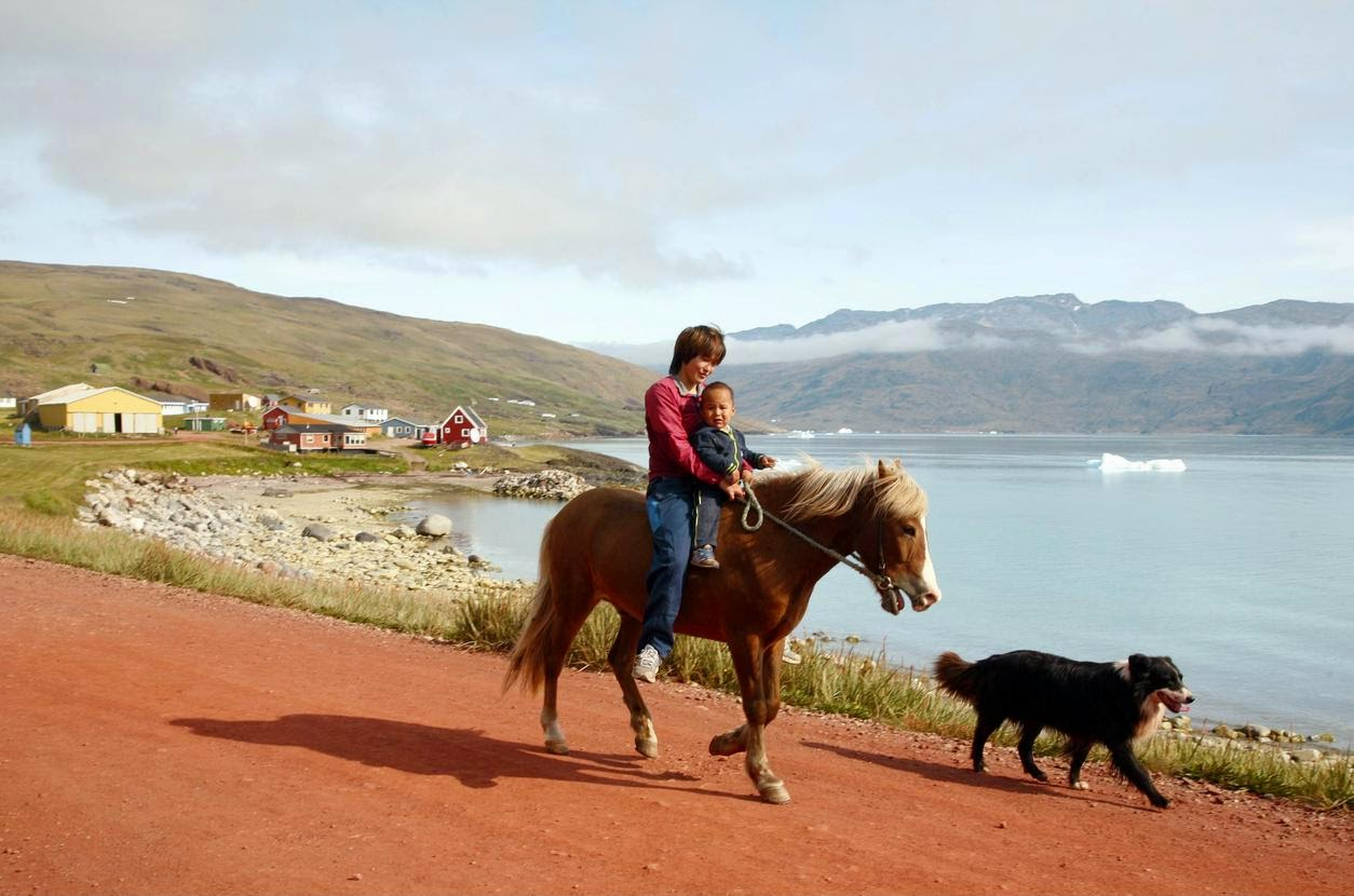 In Qassiarsuk, a village near Narsarsuaq. Credit Yadid Levy/Anzenberger, via Redux   Greener than you'd think.