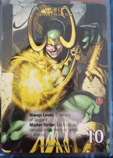 Loki card from the Marvel deck building game Legendary