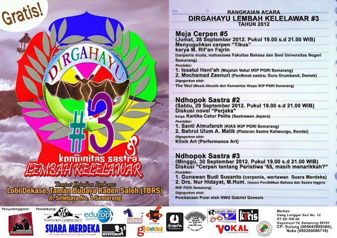 DIRGAHAYU KOMUNITAS SASTRA LEMBAH KELELAWAR #3 TAHUN 2012