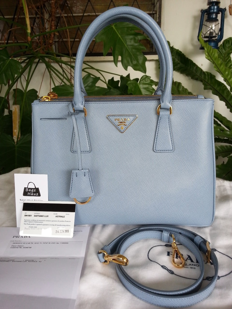 72658eb2aa58 PRADA BN1801 Saffiano Lux Leather Tote - Color  Astrale ~SOLD with ♥♥~