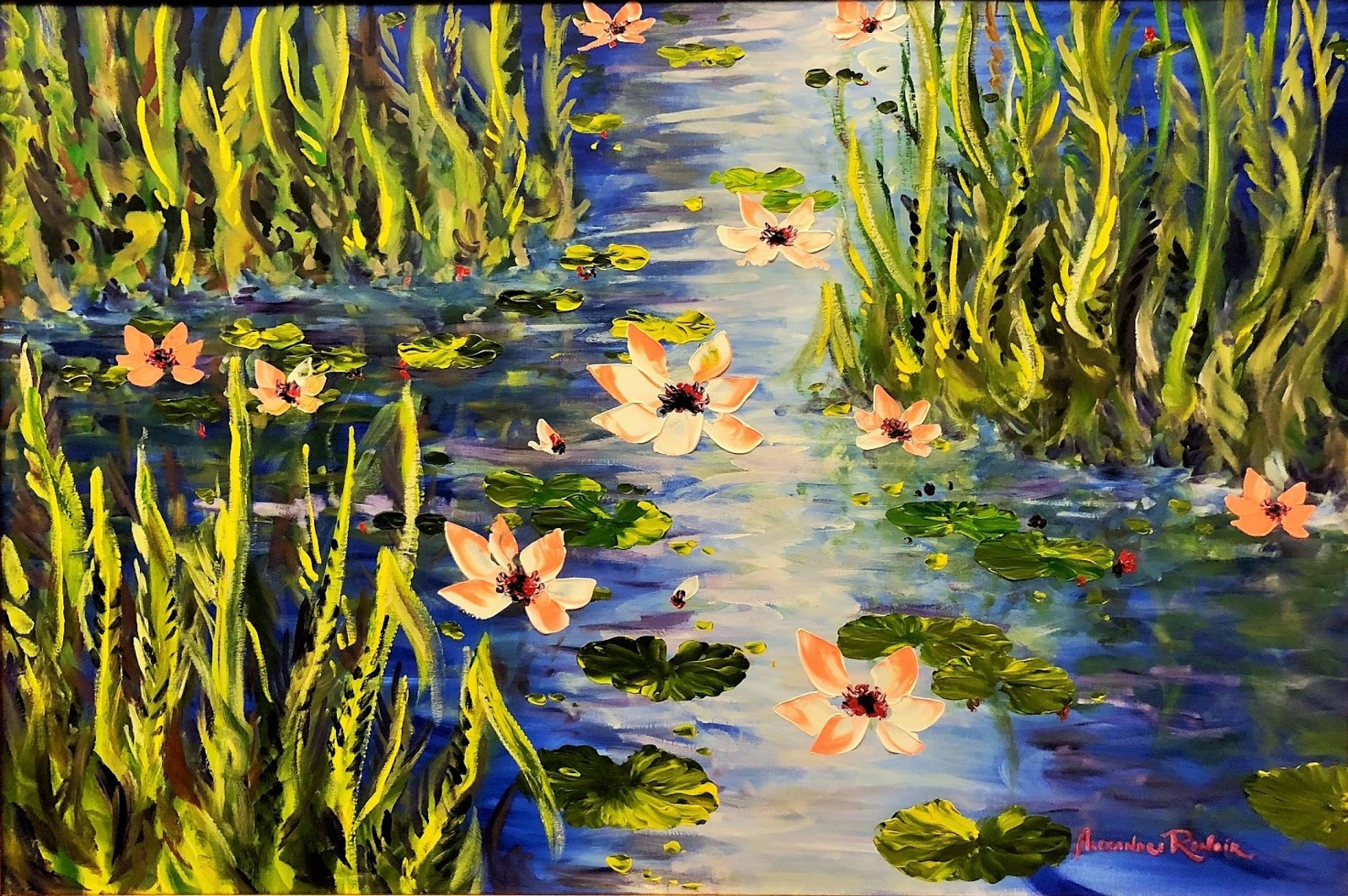 Alexandre Renoir Waterlilies At Giverny