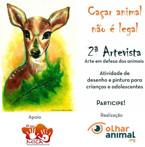 """""""Concurso Internacional de Arte"""" para crianças e jovens do Brasil e do mundo."""