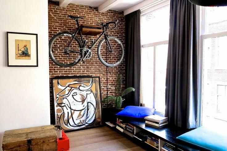 Eres un amante de las bicicletas? Integrala en la decoración