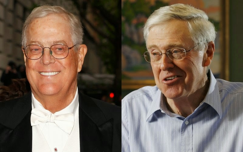 Koch Brothers (Credit: Reuters, Getty) Click to enlarge.