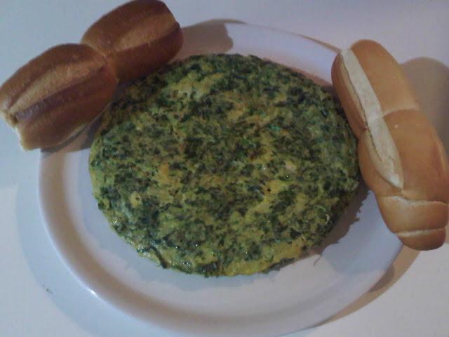 Tortilla de Espinacas y Cebolla