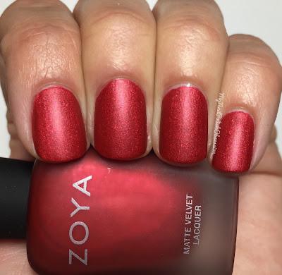 Zoya Matte Velvet Holiday; Amal