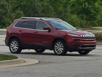 My Brother's New Cherokee Parked at Lenovo for Some Sunday Work
