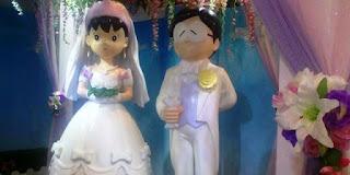 Gambar Shizuka dan Nobita menikah