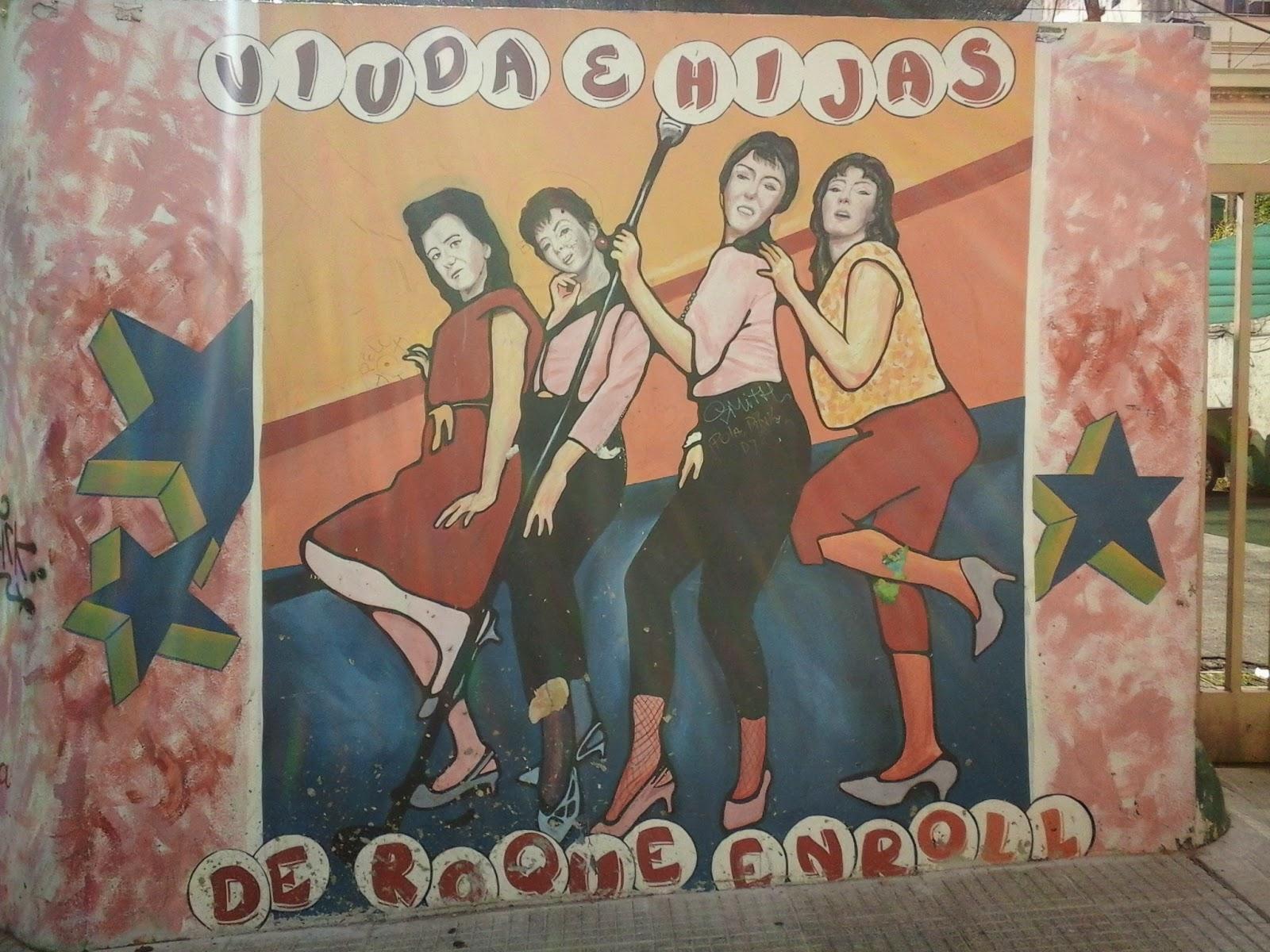 """Mural """"Homenaje al Rock Nacional – Esquina de la Mujer"""" en Buenos Aires"""