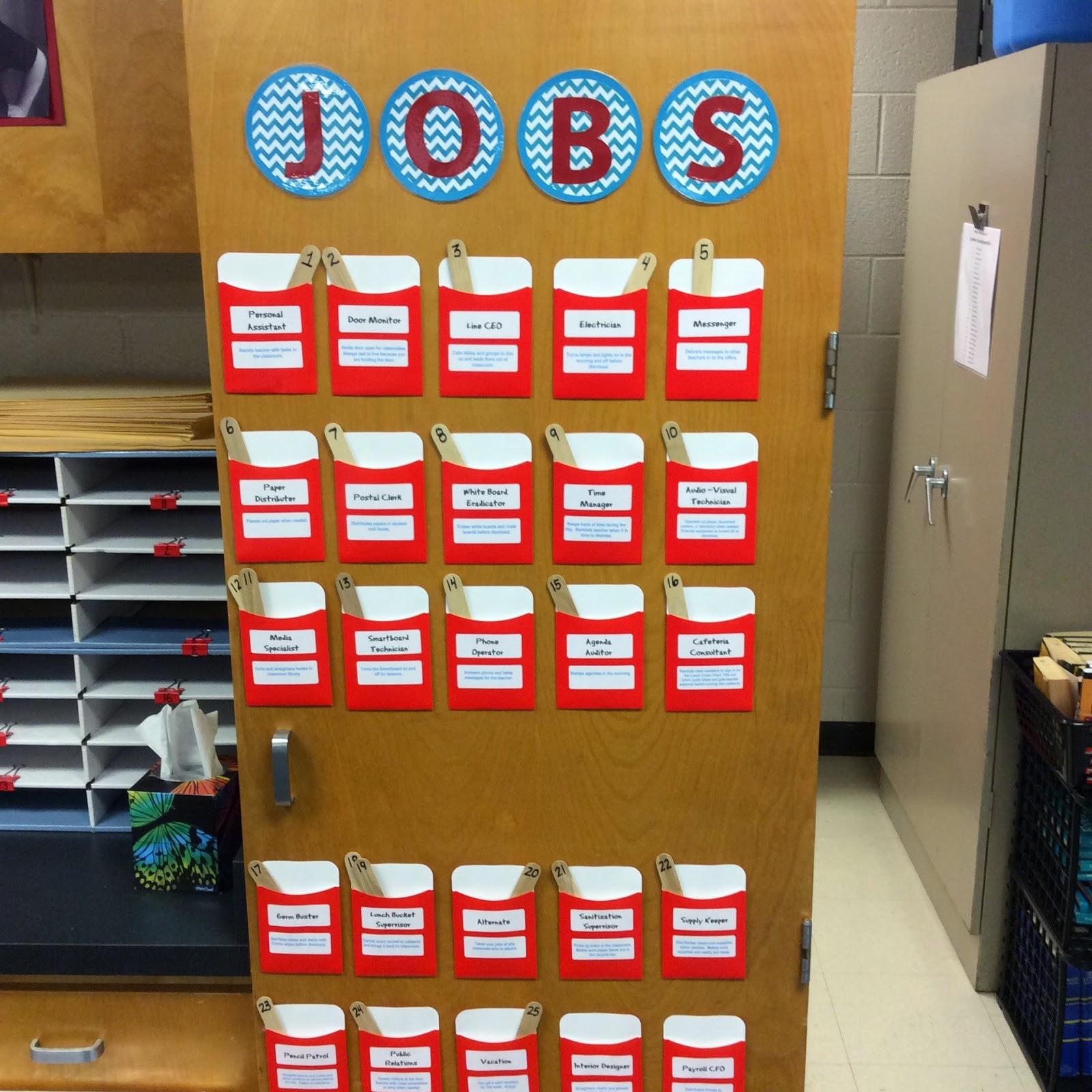 The Teacher Dish Teaching Responsibility Classroom Jobs