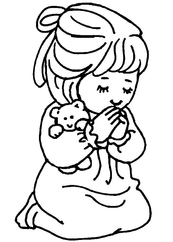 Niñas orando para pintar - Imagui