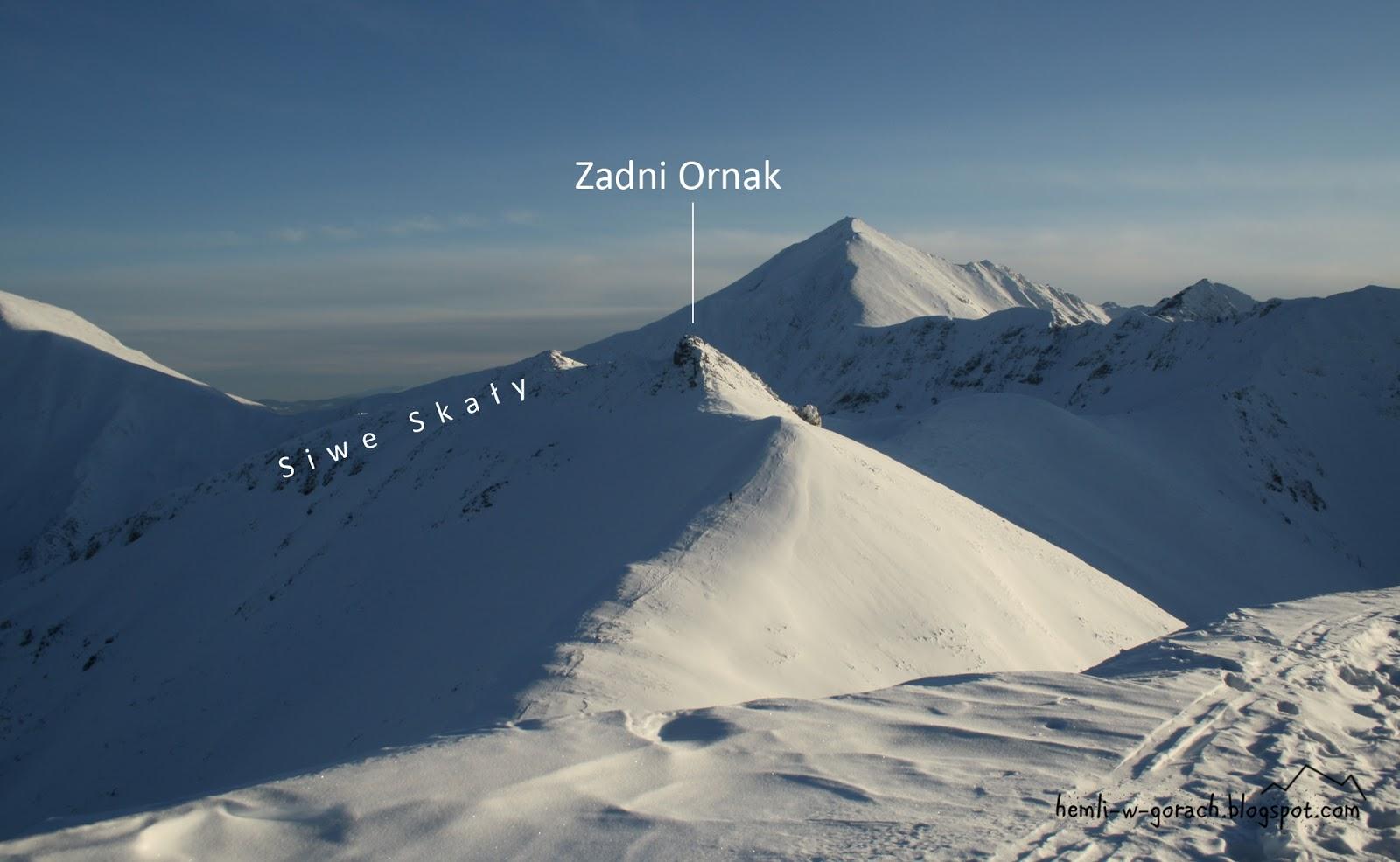 Widok na Zadni Ornak z Ornaku