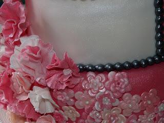 tarta fondant 15 años