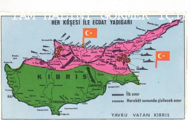 Kıbrıs Barış Harekatı Haritası