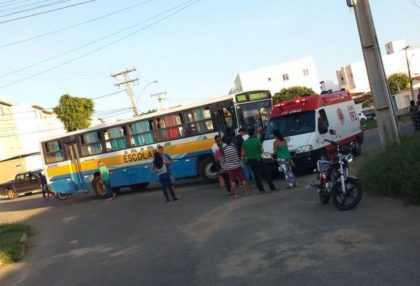 Vitória da Conquista : ônibus passa por cima de cinquentinha com a condutora